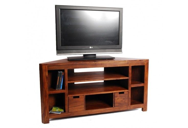 meuble tv d 39 angle palissandre massif 5 cases. Black Bedroom Furniture Sets. Home Design Ideas