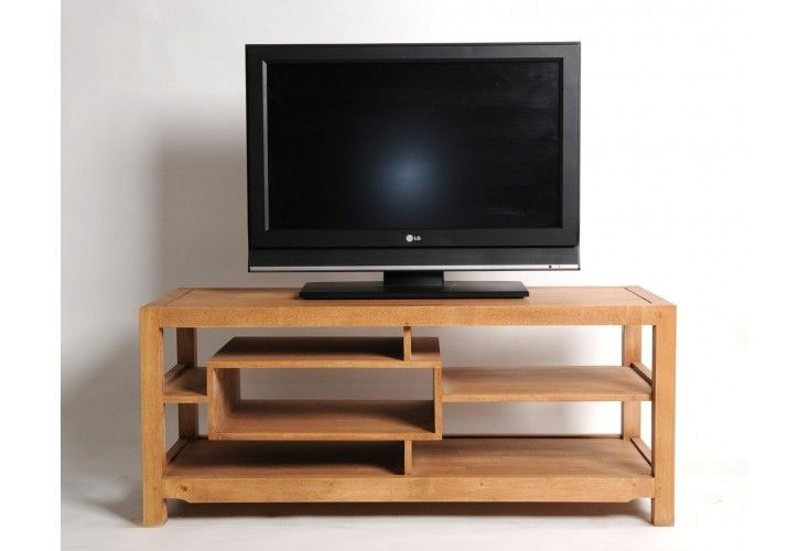 meuble tv h v a massif 5 niches mobilier. Black Bedroom Furniture Sets. Home Design Ideas