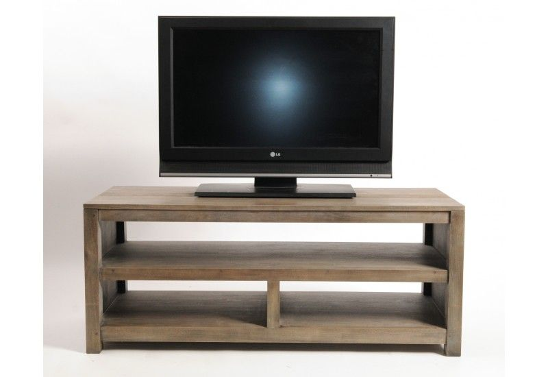 meuble tv h v a massif gray 3 niches mobilier. Black Bedroom Furniture Sets. Home Design Ideas