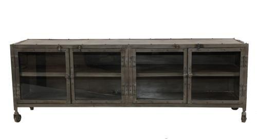 meuble tv m tal loft. Black Bedroom Furniture Sets. Home Design Ideas
