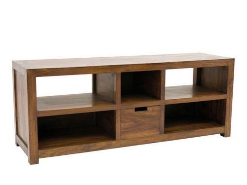 Meuble tv palissandre 1 tiroir 5 casiers for Meuble bois tiroirs casiers