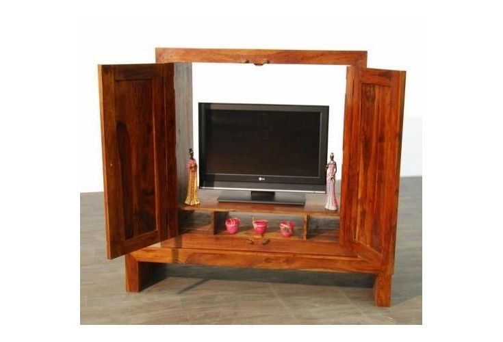 meuble tv palissandre massif 2 portes mobilier. Black Bedroom Furniture Sets. Home Design Ideas