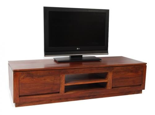 meuble tv palissandre massif 2 tiroirs mobilier. Black Bedroom Furniture Sets. Home Design Ideas