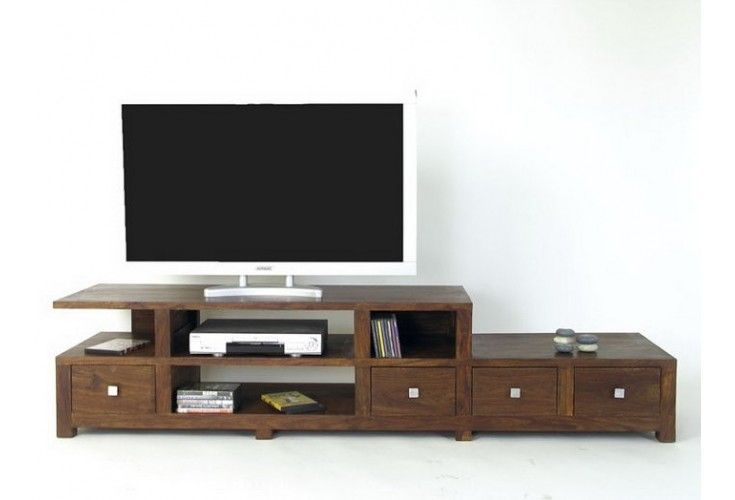 meuble tv palissandre massif 4 tiroirs 200 mobilier. Black Bedroom Furniture Sets. Home Design Ideas