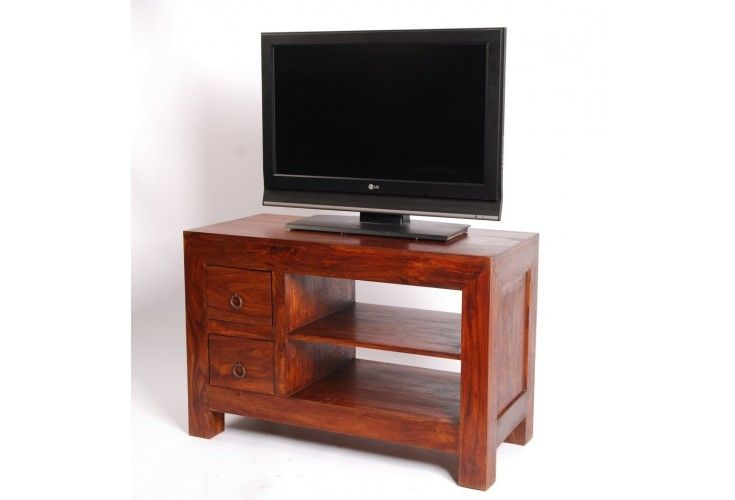 meuble tv palissandre massif zen 2 tiroirs 2 tag res mobilier. Black Bedroom Furniture Sets. Home Design Ideas
