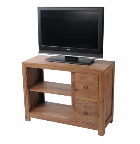 meuble tv palissandre massif naturel 2 tiroirs mobilier. Black Bedroom Furniture Sets. Home Design Ideas