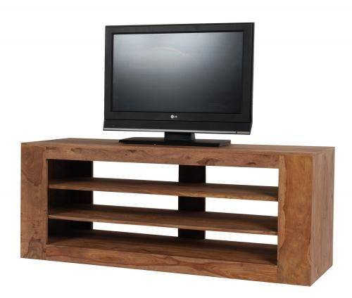 meuble tv palissandre massif naturel double face. Black Bedroom Furniture Sets. Home Design Ideas