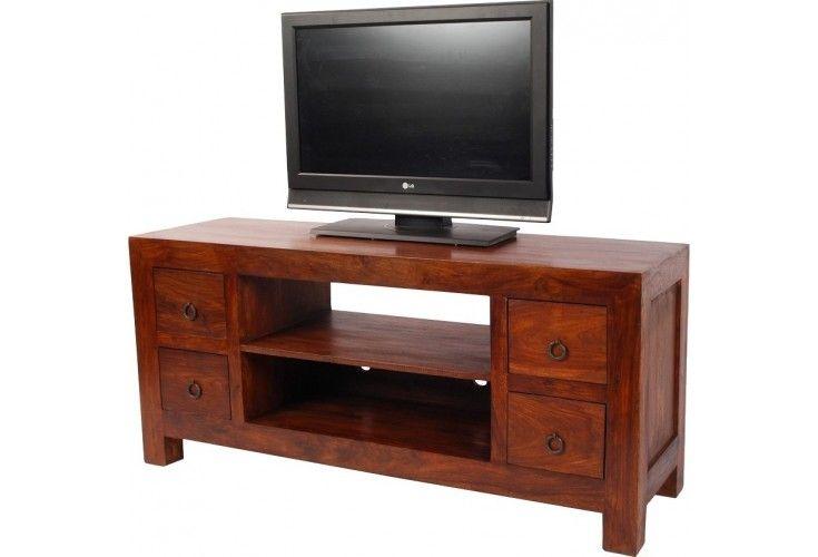 meuble tv palissandre massif zen. Black Bedroom Furniture Sets. Home Design Ideas