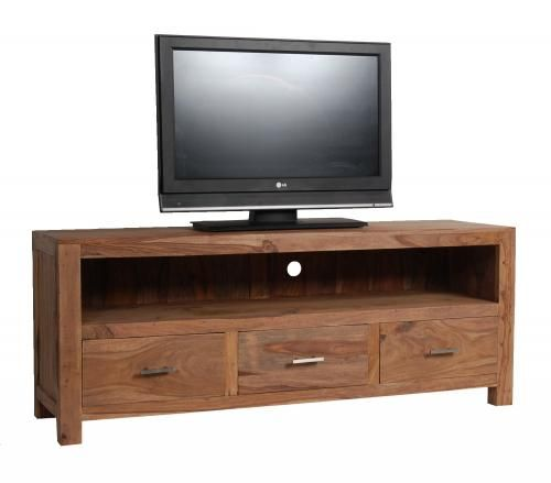 meuble tv palissandre naturel 3 tiroirs. Black Bedroom Furniture Sets. Home Design Ideas