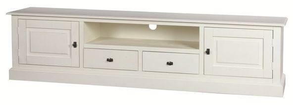 meuble tv en pin blanc table de lit. Black Bedroom Furniture Sets. Home Design Ideas
