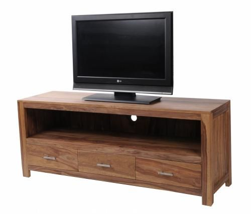 meuble tv plasma palissandre naturel 3 tiroirs. Black Bedroom Furniture Sets. Home Design Ideas