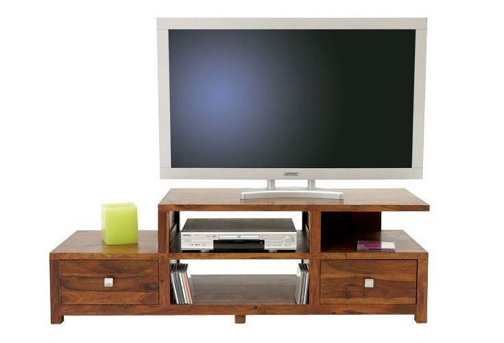 meuble tv plasma palissandre massif 2 tiroirs mobilier. Black Bedroom Furniture Sets. Home Design Ideas