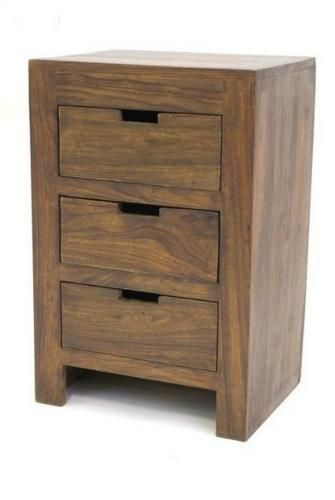 meuble de chevet palissandre 3 tiroirs mobilier. Black Bedroom Furniture Sets. Home Design Ideas