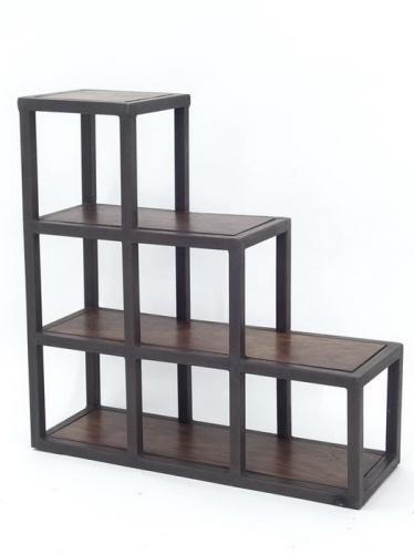Meuble escalier palissandre m tal usine for Meuble escalier ikea