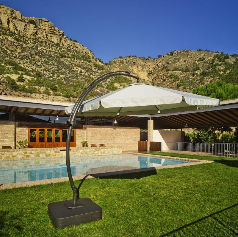 parasol d port kartman aluminium polyester 300 cm. Black Bedroom Furniture Sets. Home Design Ideas