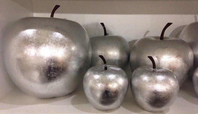 Pomme décorative finition Laquée argent modèle XS - Décoration on