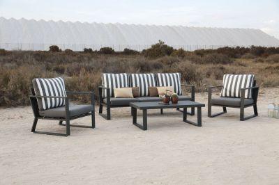 Salon de jardin Boliva5 places 2 fauteuils canapé 3 Pls table basse ...