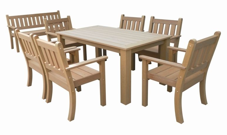 Salon de jardin garden set r sine aspect bois fonc table for Fauteuil et table de jardin