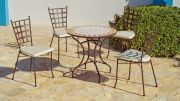 Salon de jardin acier/mosaique Salamanca-Neus 4 places 1 table 4 chs