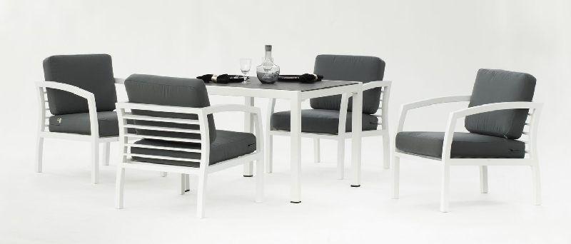salon de jardin aluminium acapulco 4 places coussins gris meubles de jardin. Black Bedroom Furniture Sets. Home Design Ideas