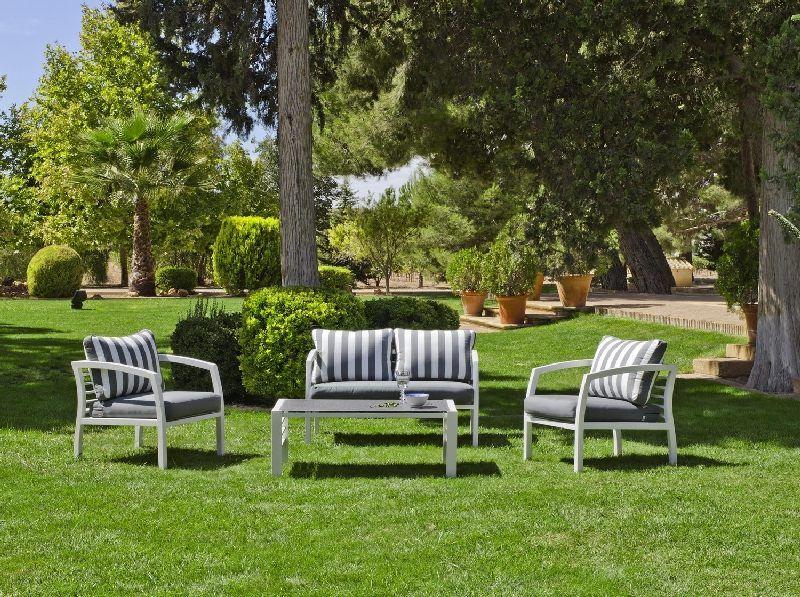 Salon De Jardin Bleu Et Blanc