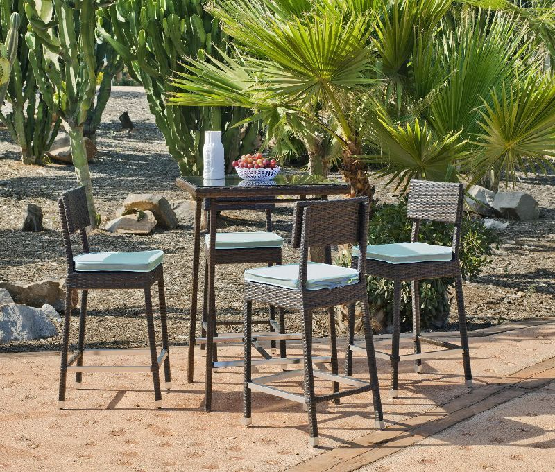 Table De Salon De Jardin Ronde En Verre : Salon de jardin de la marque Hévéa, collection Ronda, 4 places