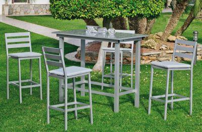 Salon de jardin haut aluminium Galicia gris 4 places
