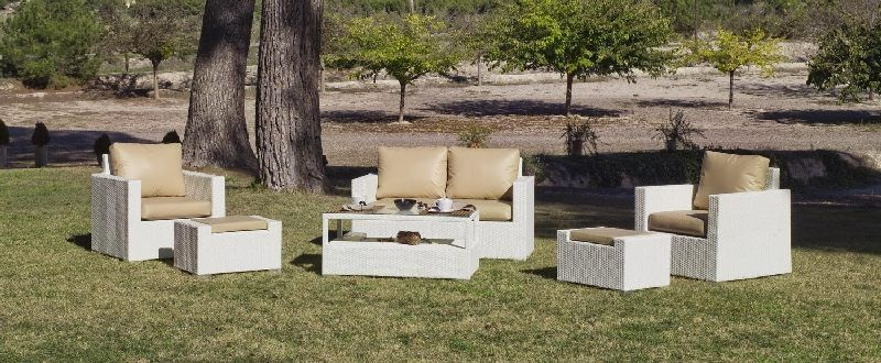 salon de jardin r sine tuscan nautic 4 places avec. Black Bedroom Furniture Sets. Home Design Ideas
