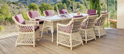 Table Resine Tressee 8 Personnes. Finest Salon De Jardin Encastrable ...
