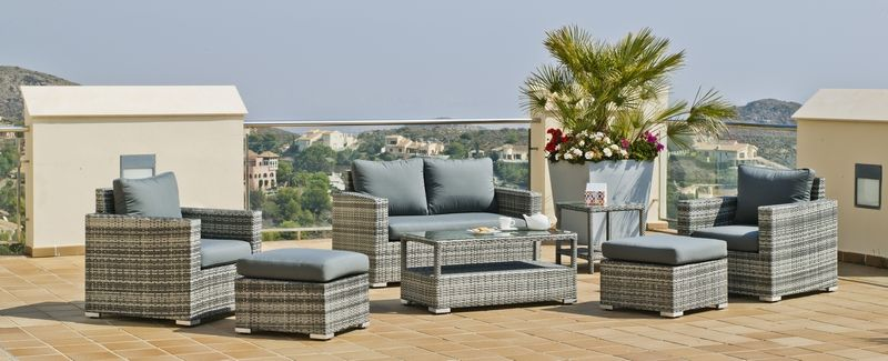 salon de jardin r sine tress e caibomara 4 l ments. Black Bedroom Furniture Sets. Home Design Ideas