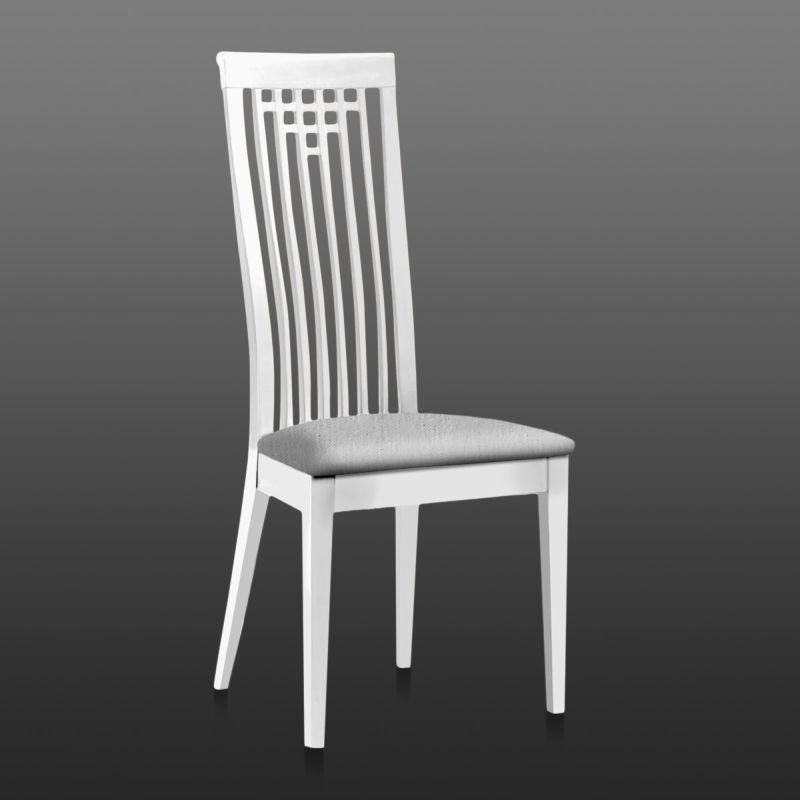 Set de 2 chaises h tre trama blanc et tapisserie gris clair 108x50x45 - Tapisserie gris clair ...