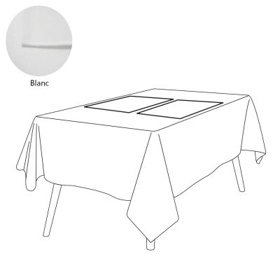 Set de table lin 105 fils/cm² uni Blanc 38x52