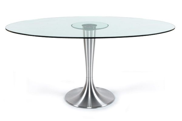 Table iris design ovale en verre - Table ovale en verre design ...
