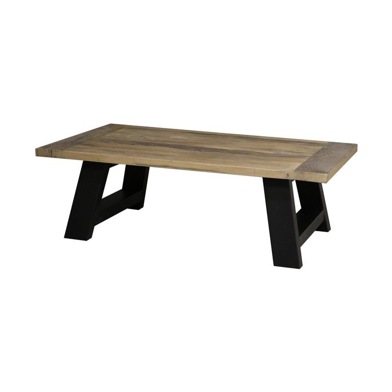 Basse Viviane 140x80x45 Chêne Pieds Noirs Table Mobilier ybf7gY6v