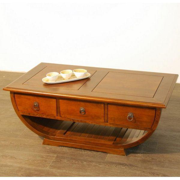 table basse demi cercle h v a 3 tiroirs mobilier. Black Bedroom Furniture Sets. Home Design Ideas