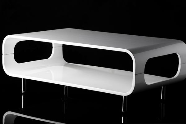 Table basse design active blanc laqu mobilier - Table basse blanc laque design ...