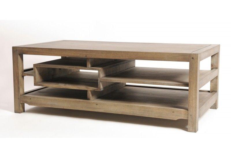 Basse Table Naturel Destructurée Hévéa Massif ulFKJ31Tc