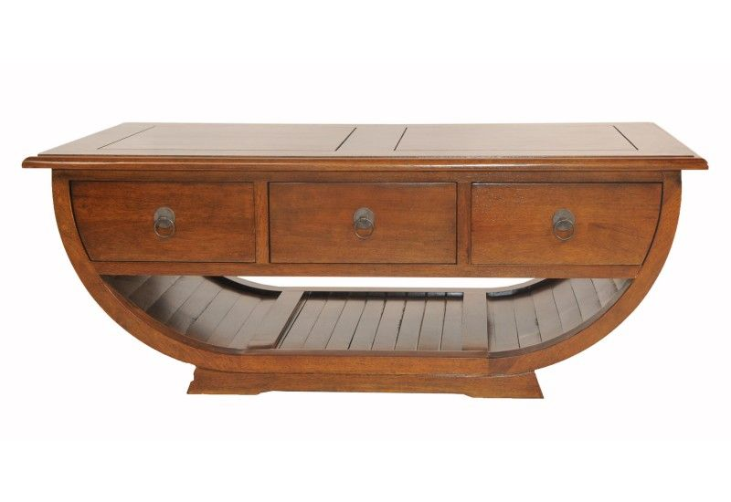 table basse h v a fonc demi cercle 3 tiroirs mobilier. Black Bedroom Furniture Sets. Home Design Ideas