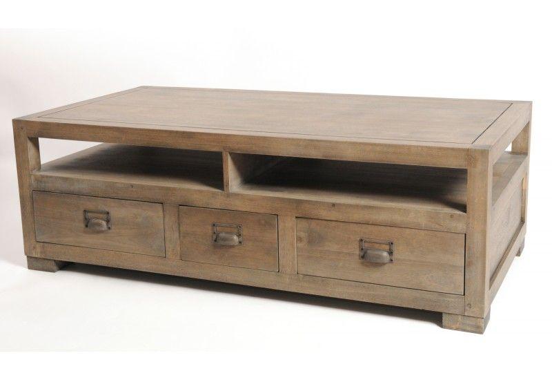 Table basse double plateaux et base en verre tremp for Table basse double plateau