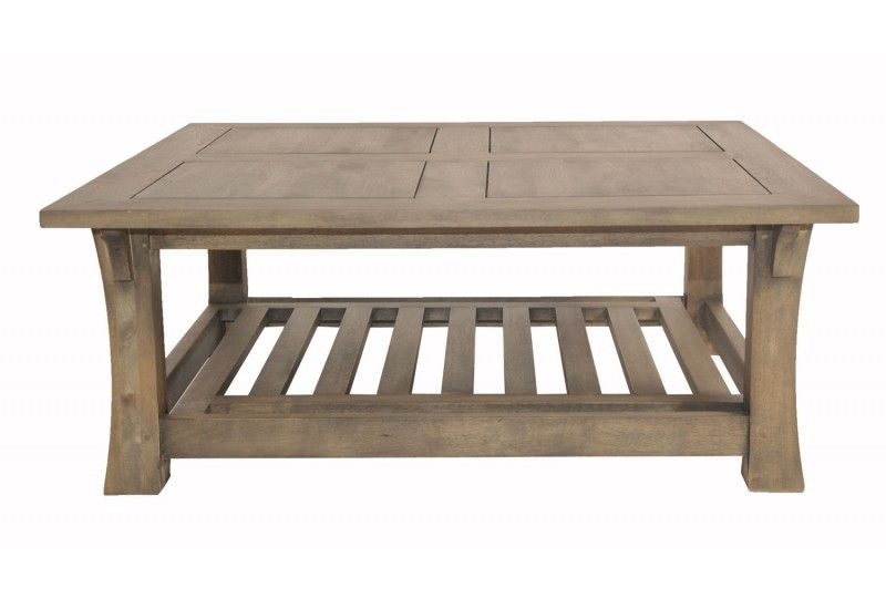 Table basse h v a gris carr e - Table basse carree grise ...