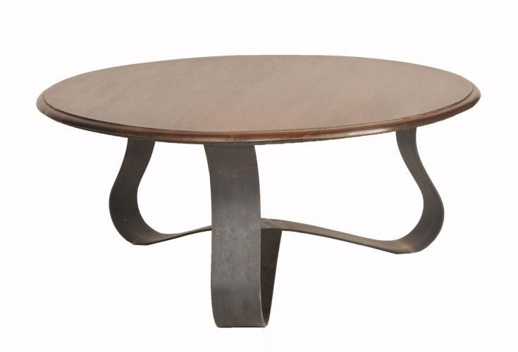 table basse palissandre ronde slalom. Black Bedroom Furniture Sets. Home Design Ideas