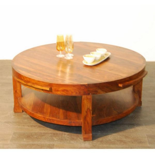 Table basse palissandre ronde mobilier - Table basse bois ronde ...