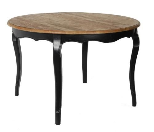 table ch ne ronde classique avec allonges mobilier. Black Bedroom Furniture Sets. Home Design Ideas