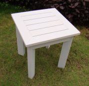 Table d'appoint White Touch résine aspect bois blanc
