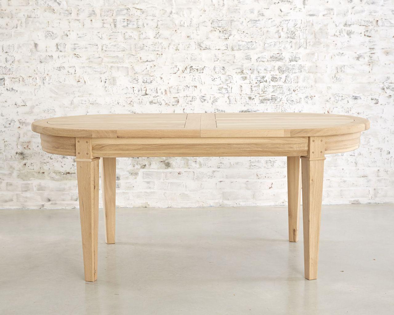 table extensible ovale ch ne naturel sabl toronto 180x100. Black Bedroom Furniture Sets. Home Design Ideas