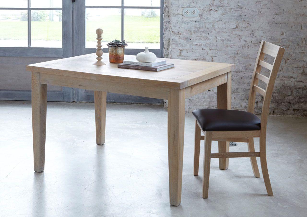 Toronto Naturel 125x90 Sablé Chêne Rectangle Table Extensible EDIW2H9