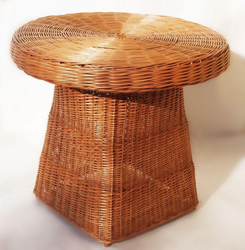 Table ronde en osier naturel Panca - Meubles de jardin | decotaime.fr