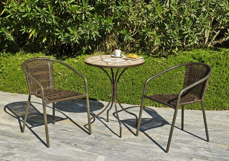 Table ronde mosaique Vasère Ø 60 cm - Meubles de jardin | decotaime.fr