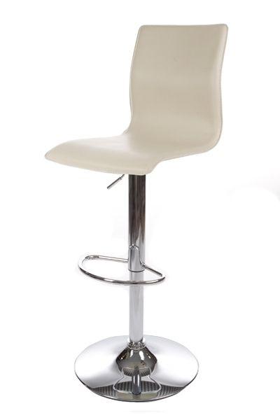 tabouret de bar design volute cr me mobilier. Black Bedroom Furniture Sets. Home Design Ideas