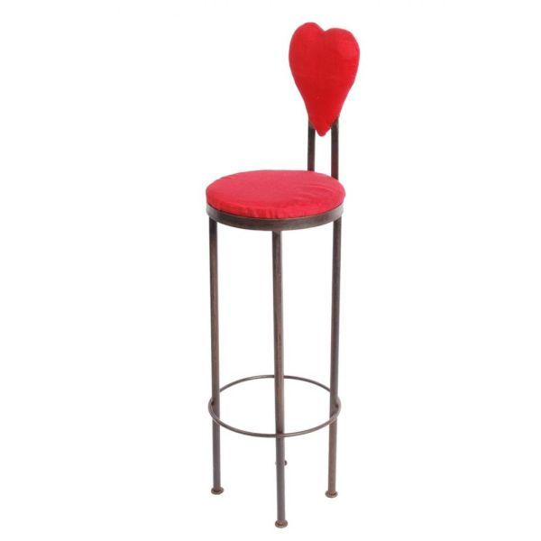 Tabouret de bar fer forg coeur for Table avec tabouret cuisine